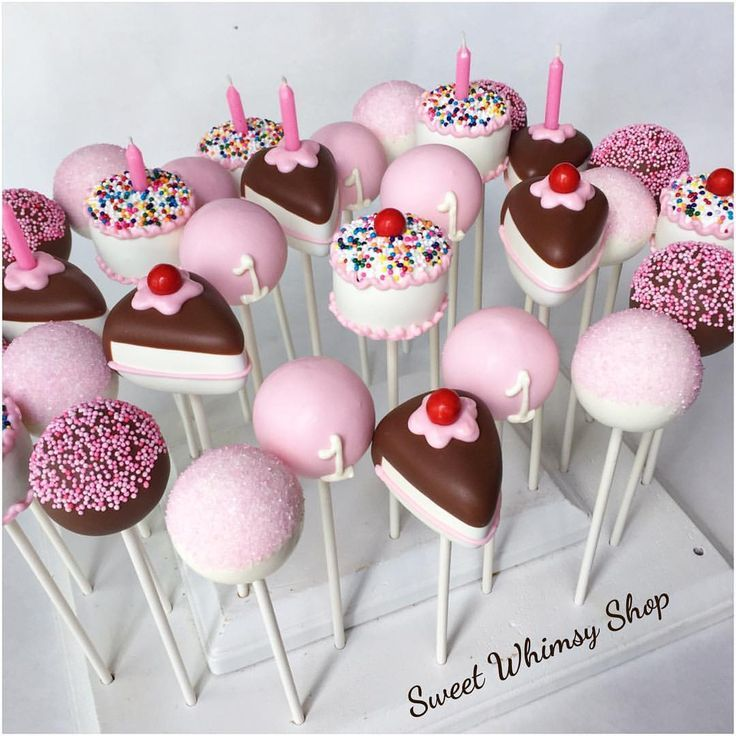 Cake Pops, Birthday Cake Pops, No Bake Cake Pops