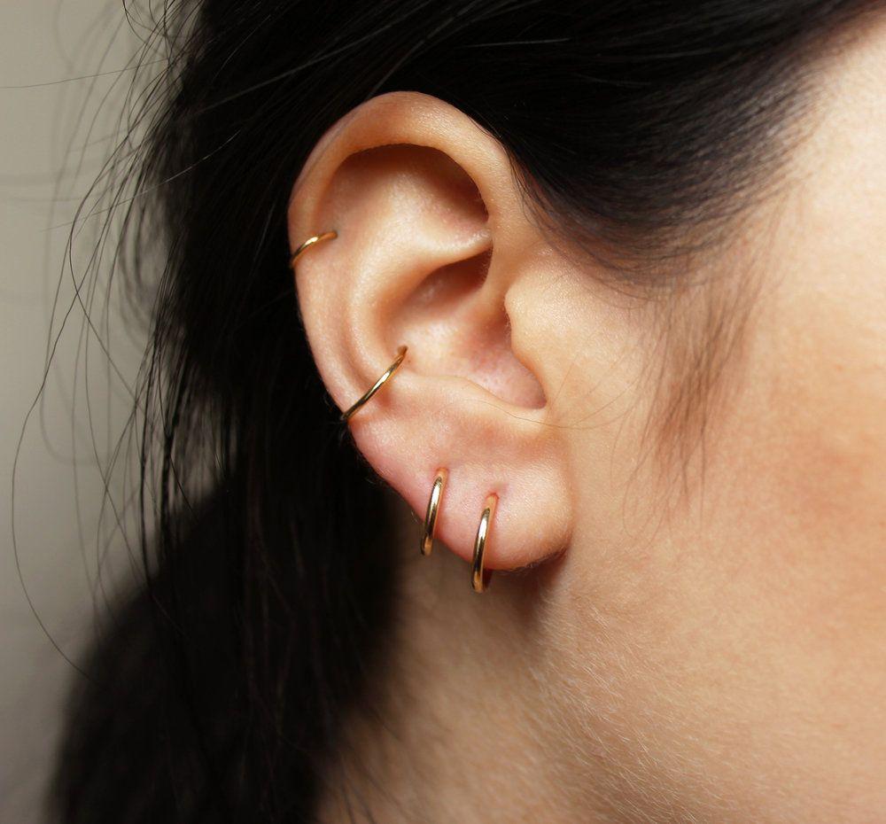 GOLD SILVER VINTAGE PLUG HOOP EAR RINGS HEART DIAMANTE STUD BUY 2 GET 1 FREE