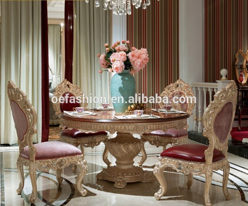 Italian Luxury Round Dining Room Furniture Round Dining Table Sets