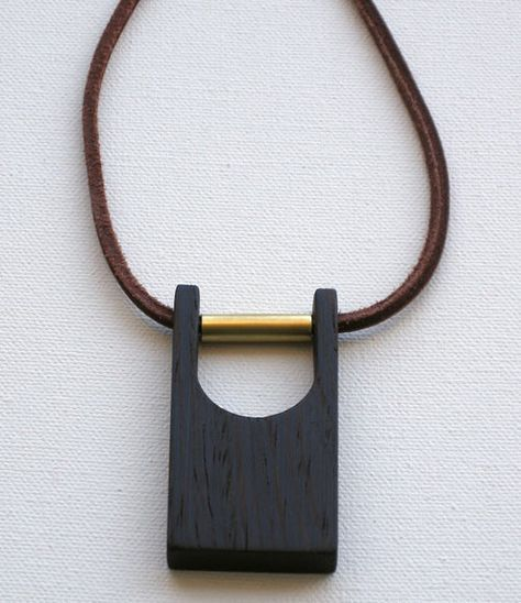 Modern Wood and Brass Jewelry by Jason Lees Design is part of Jewelry stores, Modern jewellery design, Brass jewelry, Jewelry art, Leather jewelry, Modern jewelry - Oakland, Californiabased Jason Lees Design makes some really cool furniture and accessories, but his new jewelry collection featuring the same materials of wood, brass, leather, and paint are minimal statements of perfection