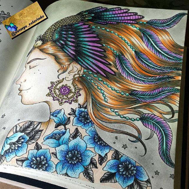 Finalizada! Ísis!  #euterpecolorindo #arteterapia #colorindo #diversaocolorida #adorandocolorir #arteterapia #adultcoloring #artteraphie #coloringadulte #coloringadultstyle #coloring #coloringbook #colorilike #colorilivros #vamoscolorir #muitascores #hannakarlzon #summernights #instagood #instaart #lapisdecor #paint