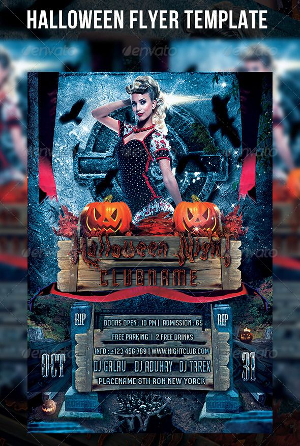Halloween Flyer Template Photos of models, Flyers and The pack - zombie flyer template