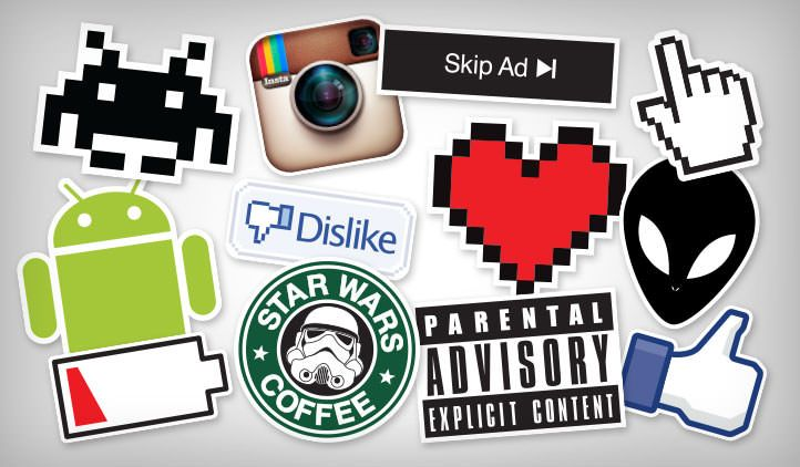 Laptop stickers stickeryou products