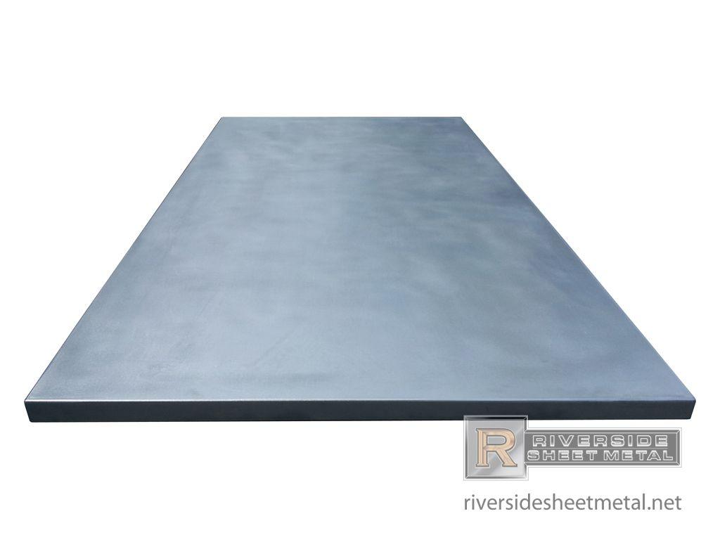 Zinc Counter Top Riverside Sheet Metal Stuff For Blumen Haus In