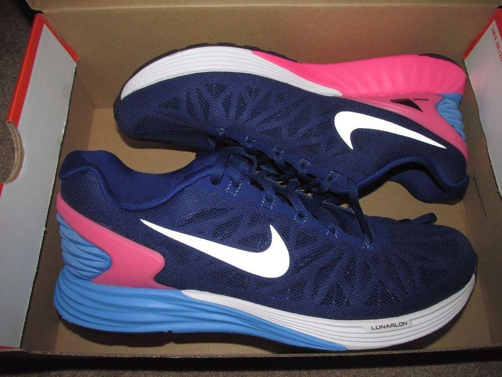 size 40 04831 f8ca7 Nike Lunarglide 6 Womens Running Shoes 9.5 Deep Royal Blue ...