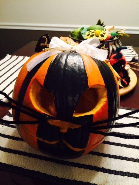 Cat Pumpkin #cat #pumpkin #diypumpkin