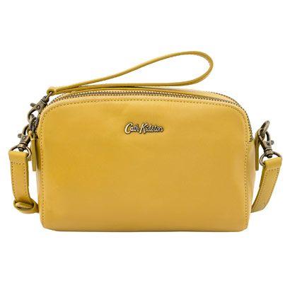 Mini Leather Double Zip Bag