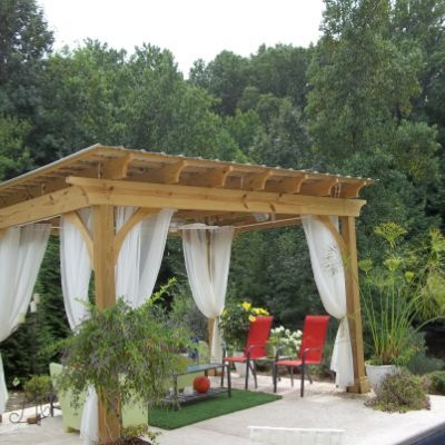 Imagine hanging out in this lovely pool pergola. Pressure treated wood with  a polycarbonate roof for shade and rain protection. - Imagine Hanging Out In This Lovely Pool Pergola. Pressure Treated