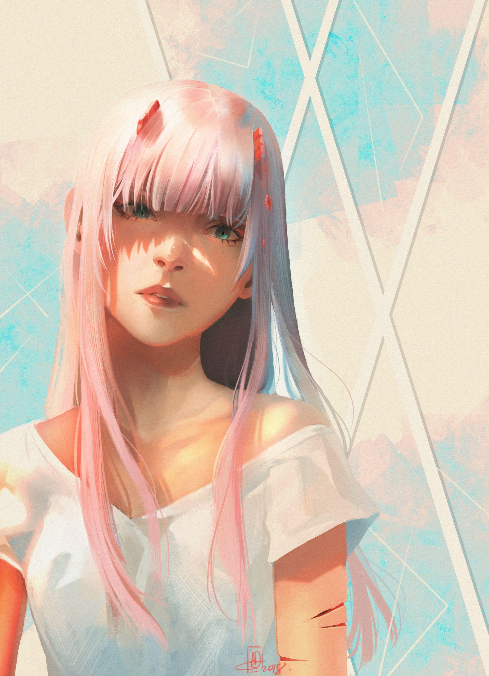 ArtStation - Zero Two, Annie Doyon | Anime, Mecha anime ...