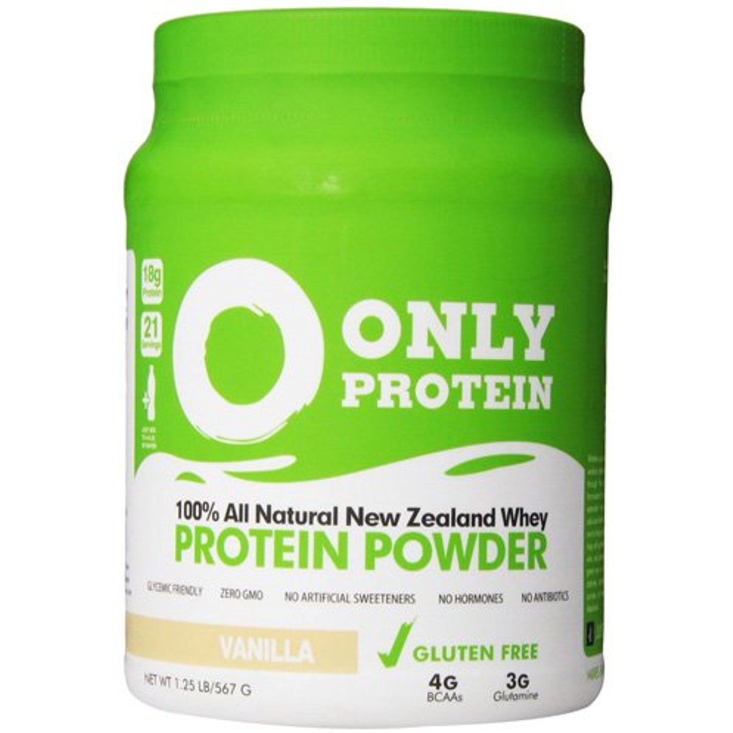 New Only Protein Whey Protein Pure Vanilla 1.25 lb