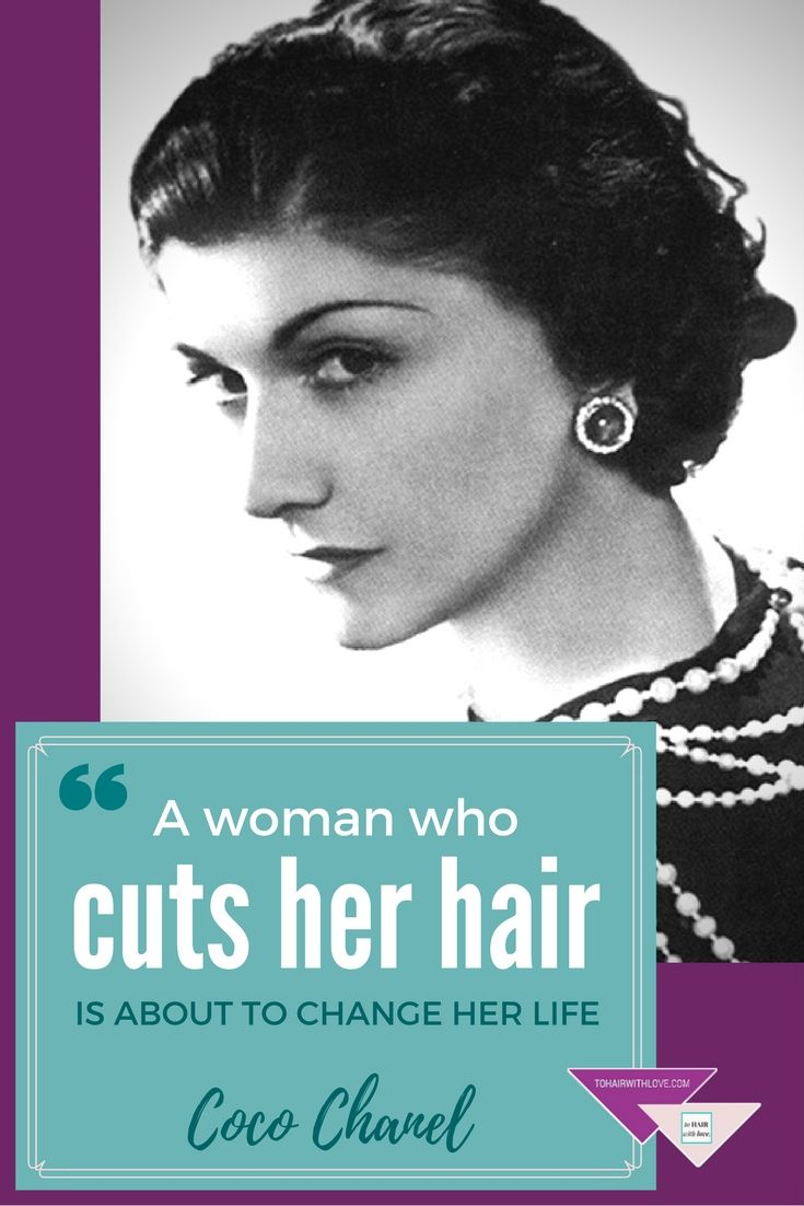 Hair Quote By Coco Chanel A Woman Who Cuts Her Hair Is