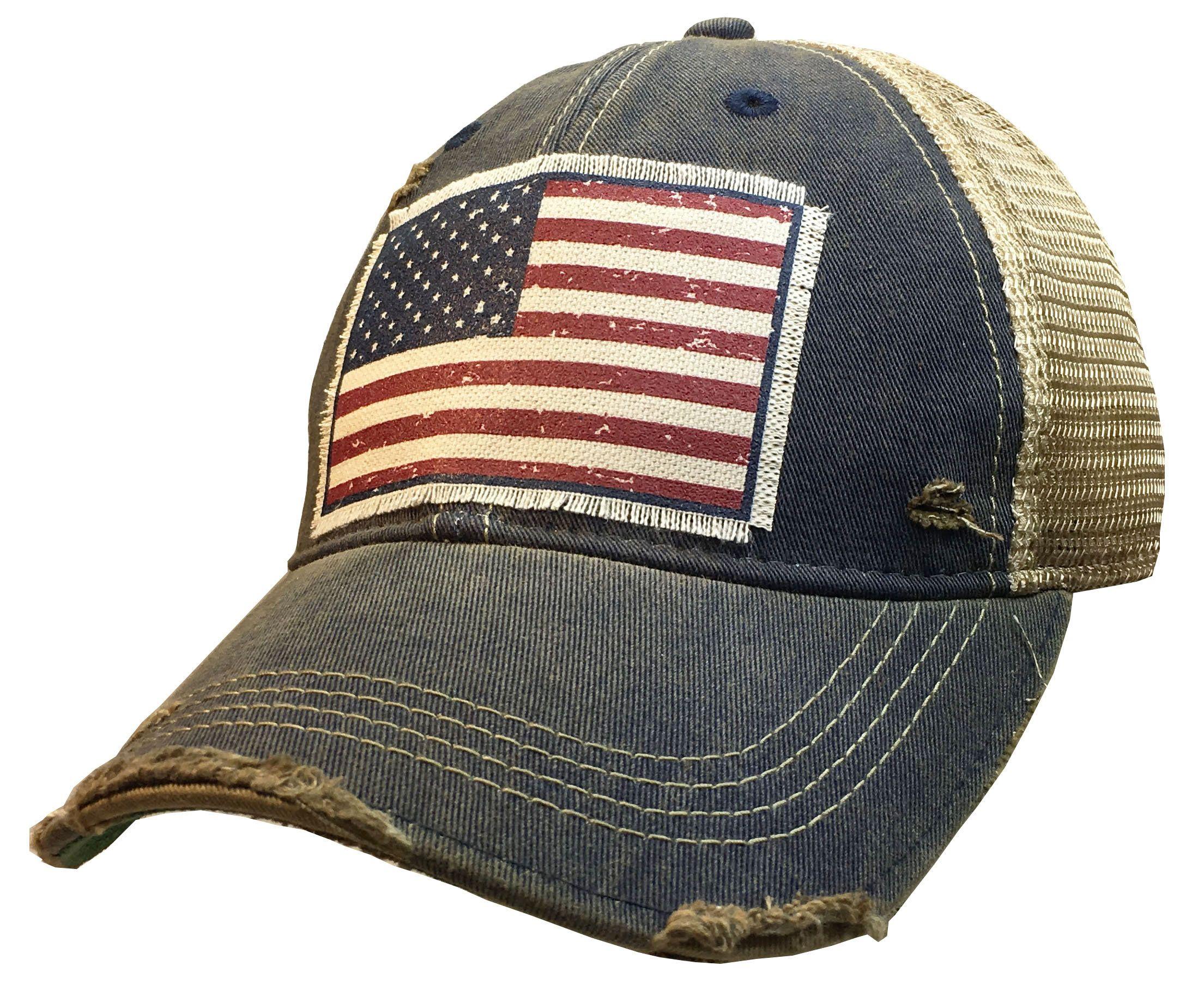American Flag Usa Vintage Distressed Trucker Cap Men S Etsy In 2020 American Flag Hat Mesh Cap Womens Hats Baseball