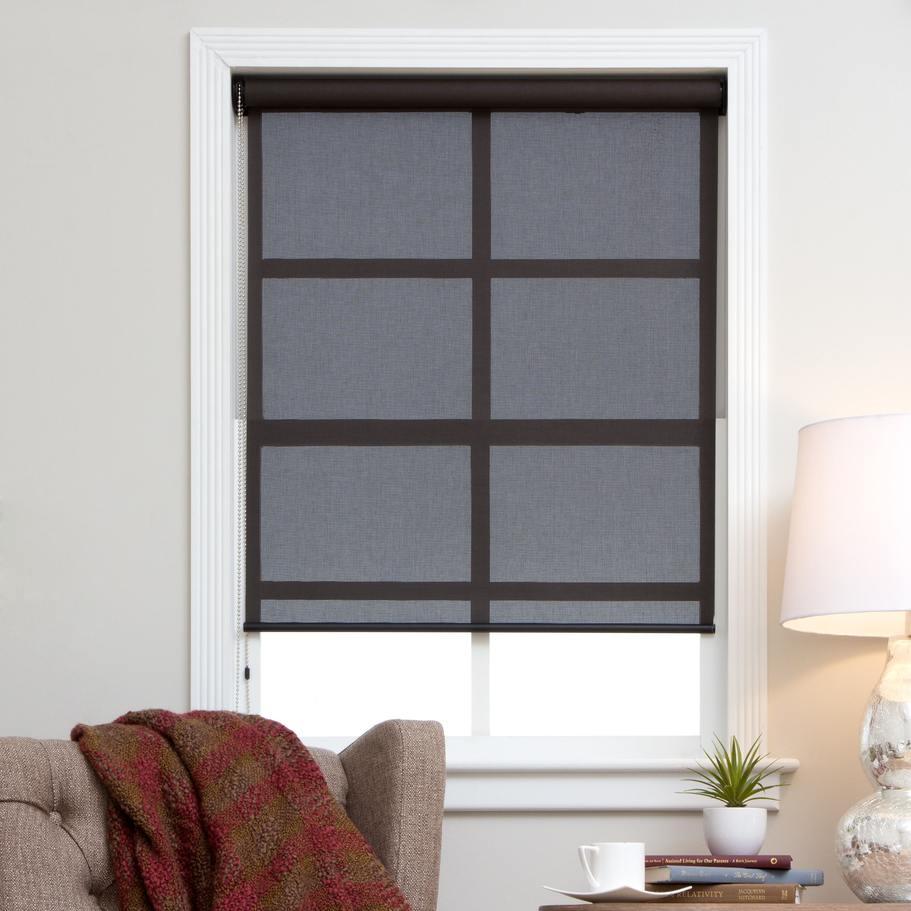 Arlo blinds brownblack continuous chain solar shades x