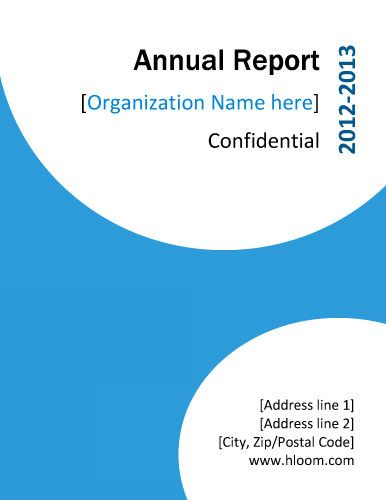 BlueAnnualReportTitlePageSample  SymE    Annual