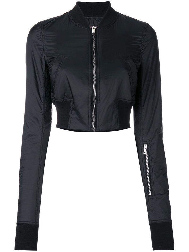 ¡Cómpralo ya!. Rick Owens Drkshdw - Cropped Bomber Jacket - Women - Cotton/Polyamide/Polyester - XS. Black cotton cropped bomber jacket from Rick Owens Drkshdw. Size: XS. Gender: Female. Material: Cotton/Polyamide/Polyester. , chaquetabomber, bómber, bombers, bomberjacke, chamarrabomber, vestebomber, giubbottobombber, bomber. Chaqueta bomber  de mujer color negro de Rick Owens DRKSHDW.