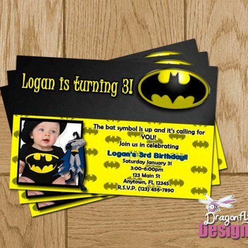 batman birthday party invitations - google search | 3rd birthday, Birthday invitations