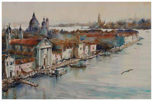 Venise Souvenir 5 Dessin Italie Paysage Venise Paysage Aquarelle