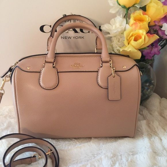 470377c681fc7 Coach Mini Bennet satchel Nude Gold A 100% Authentic   Brand new.  Crossgrain leather. Nude light pink and gold tone hardware! Top zip closure.