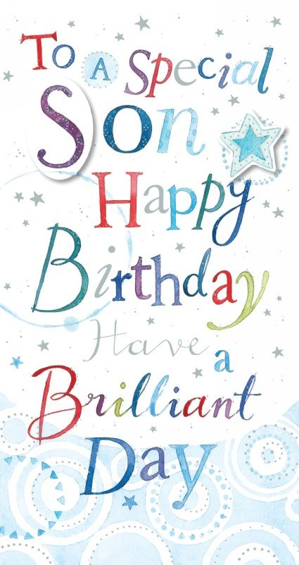 Ling Design Son Happy Birthday Card Cards 44 Gifts And Party Birthday Cards For Son Birthday Wishes For Son Birthday Wishes Quotes
