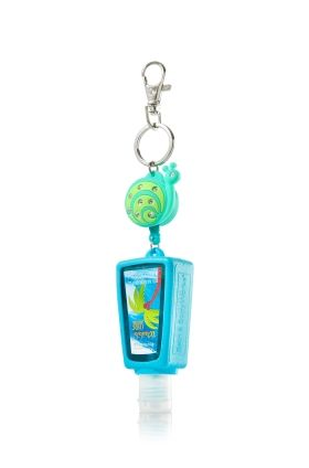 Sparkling Teal Snail Retractable Pocketbac Holder Bath Body