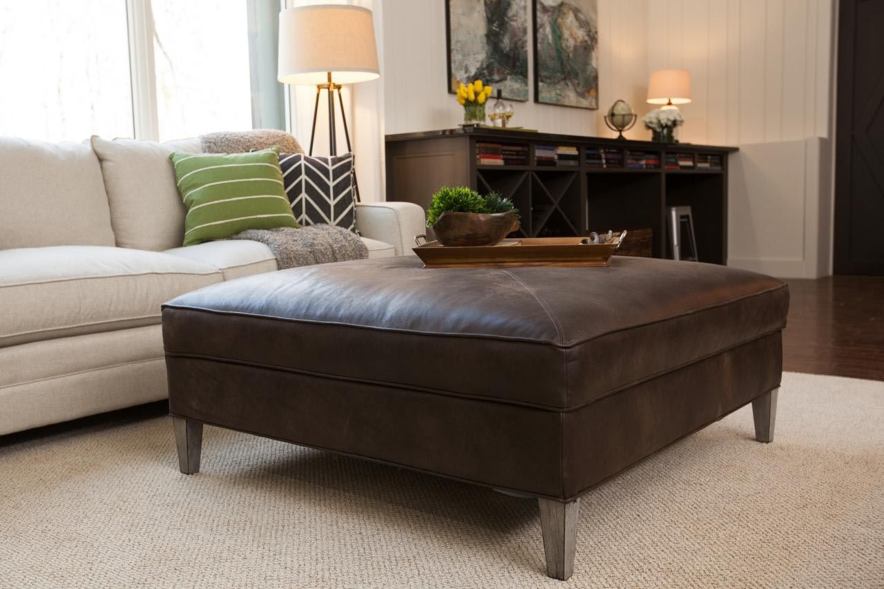 Brown Leather Ottoman Coffee Table Coffee Table Design I