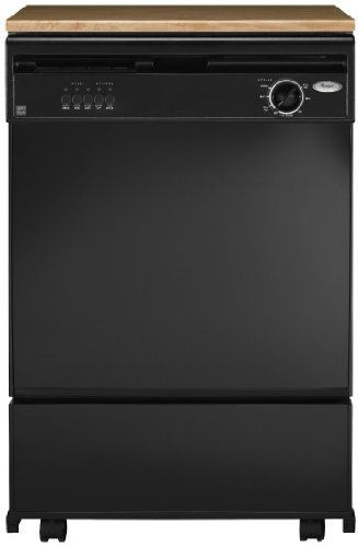 Whirlpool Dp840swsx 24 Portable Dishwasher With 5 Cycles Black