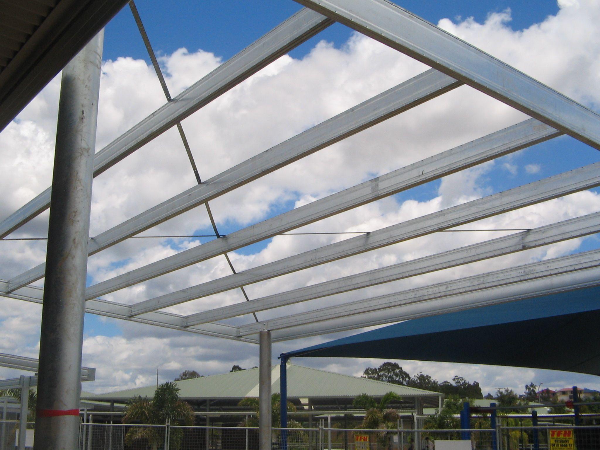 Skillion Roof Using Boxspan Steel Beams Skillion Roof Roof Framing Steel Beams