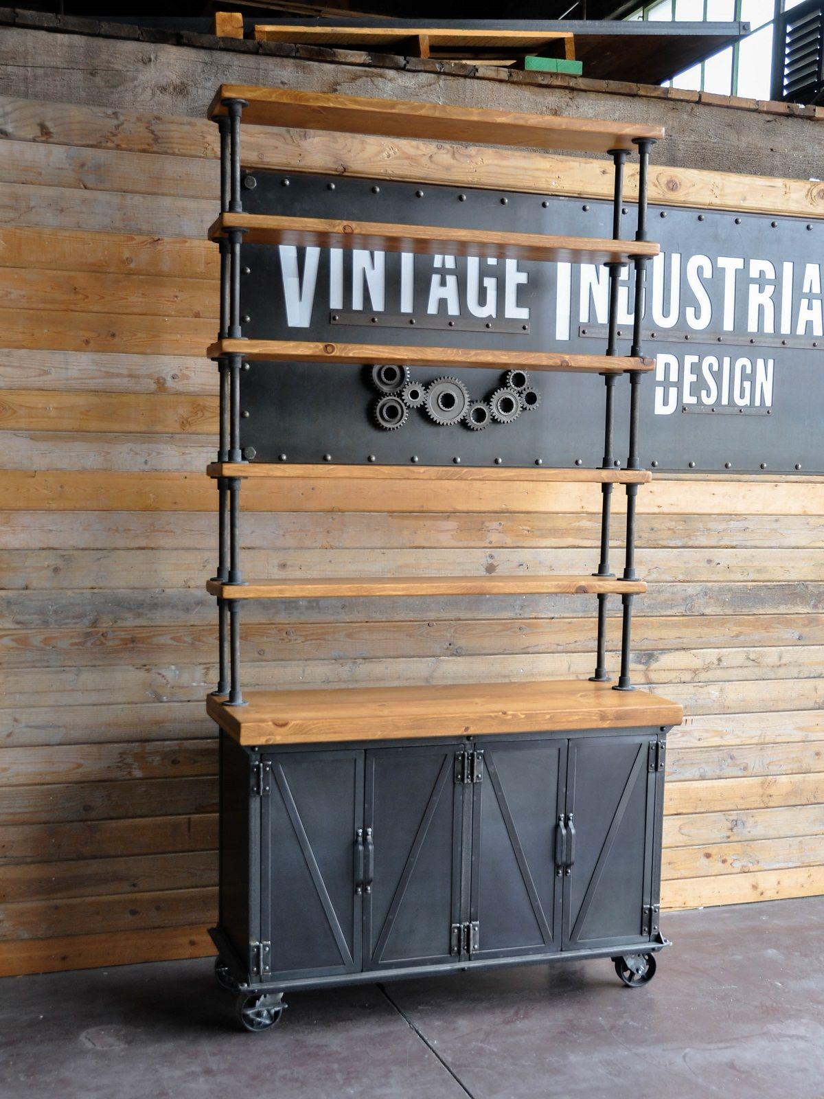 Ellis media console vintage industrial furniture - 9 Ellis Shelf By Vintage Industrial Furniture In Phoenix