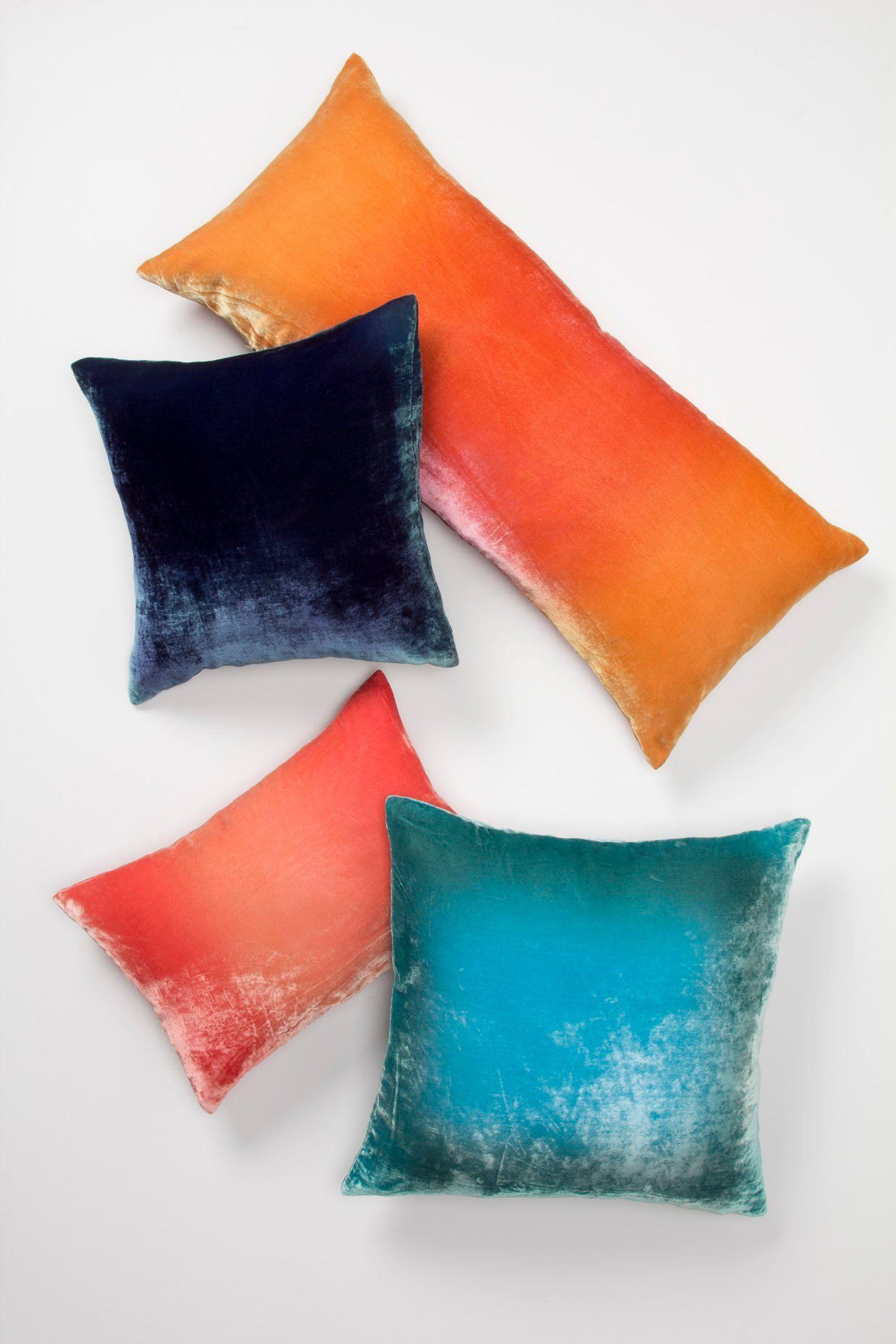 Kevin O Brien Ombre Velvet Pillow Velvet Pillows Pillows Velvet