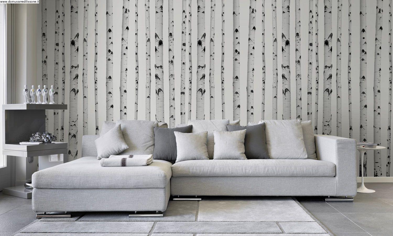 Carta da parati vinilica / eq•dekor fibra di vetro / tela® taffetà. Carta Da Parati Betulle Home Interior Design Furnishings