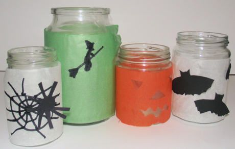 Halloween Candle Jars Kids Craft fabulous ideas Pinterest - halloween jar ideas