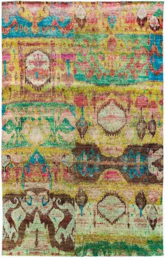 ABC Carpet  Aquasilk Collection. New York   New York   Raspberry and Turquoise