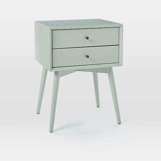west elm mid century nightstand oregano bedside tables pinterest