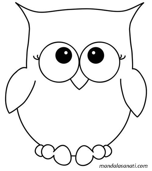 Baykuş Taslağı Búhos Owl Owl Stencil Ve Owl Templates