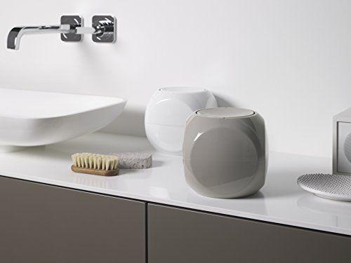 Spirella Dice White Abfalleimer, 1 L Bad, Plastik, Weiß, 14 x 14 cm