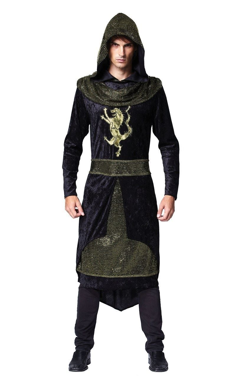 Mens Rogue Prince Costume Adults Medieval King Tunic  Fancy Dress History Outfit