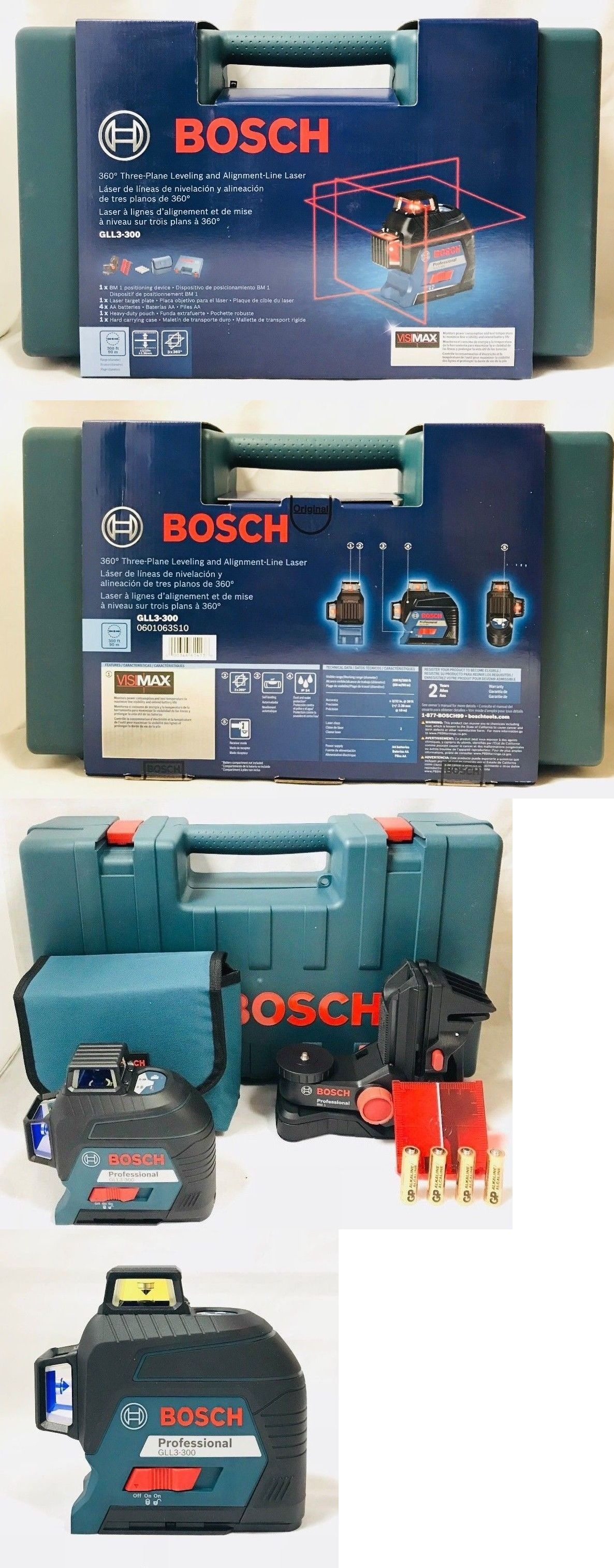 Laser Measuring Tools 126396 Bosch Gll3 300 360 Degree Laser Level Replacing Upgrade The Bosch Gll3 80 Buy It Now Measuring Tools Bosch Laser Levels