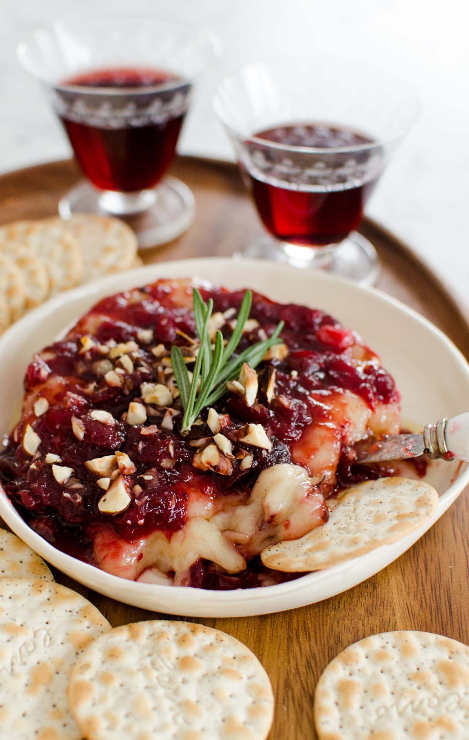 Photo of Holiday Appetizer Recipe: Baked Brie with Cranberry Sauce