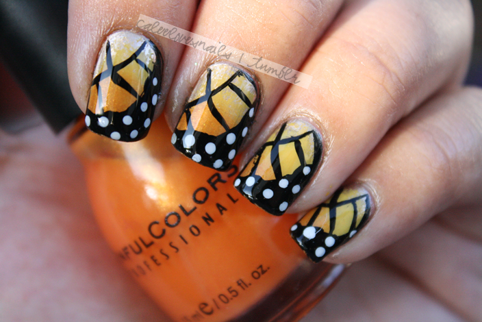 Amazing..Monarch butterfly nails!
