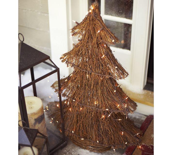 Decoracion navide a r stica para la entrada navidad for Decoracion navidena rustica