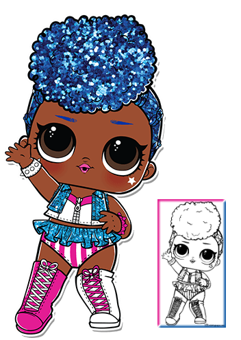 Independent Queen Series 3 Wave 2 L O L Surprise Doll Coloring Page
