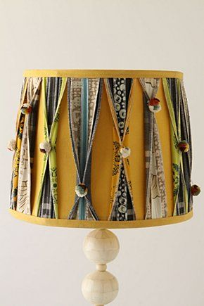 Funky Lampshade I May Be Able To Recreate This On My Own Diy Lamp Shade Anthropologie Lamp Lampshade Makeover