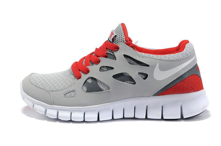 Nike Free Run 2 Femmes Rouge Gris Chaussures [frfr0232] - €59.29 :