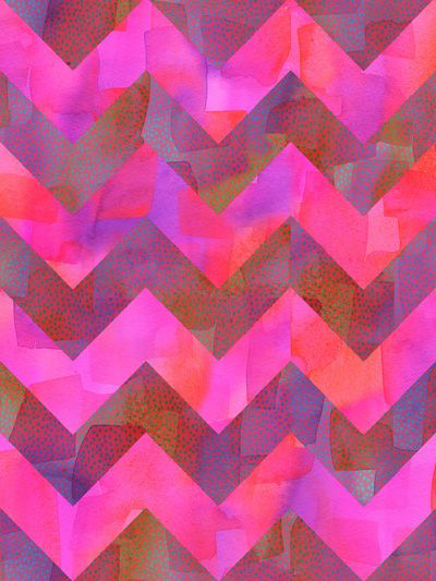 Dot Chevron Art Print by schatzibrown #chevron #pink #neon