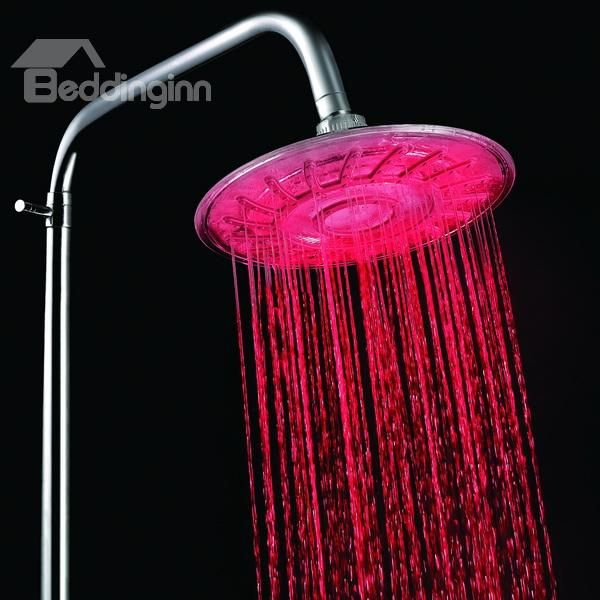 New Arrival Led Rainfall Shower Head Faucet Changing Colors By Temperature With Images Rainfall Shower Head Led Shower Head Shower Heads