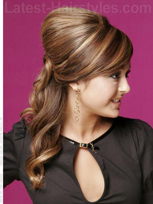 Bouffant Updo Hairstyles Modern Bouffant Fun Half Updo With