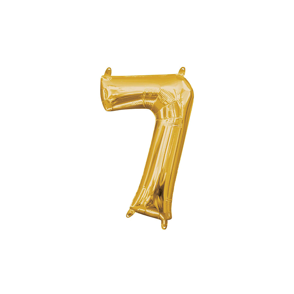 13in Air Filled Gold Number 0 Balloon Gold Number Balloons Number Balloons Party City Balloons