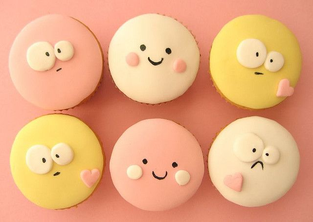 funny faces cupcakes