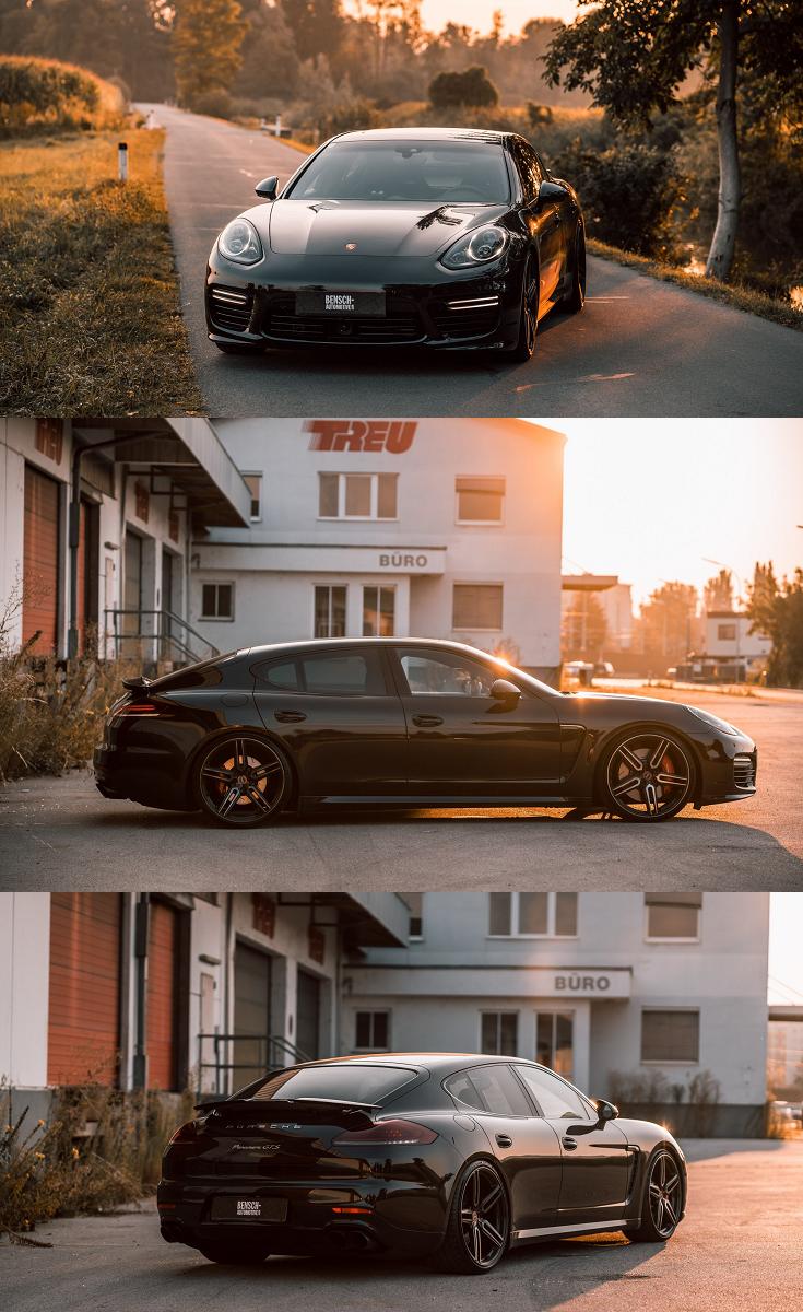 Fully Bespoke Exterior Bits On Black Porsche Panamera Black Porsche Porsche Panamera Michelin Tires