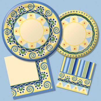 Mediterranean Pottery - Party at Lewis Elegant Party Supplies Plastic Dinnerware Paper Plates and  sc 1 st  Pinterest & Mediterranean Pottery - Party at Lewis Elegant Party Supplies ...
